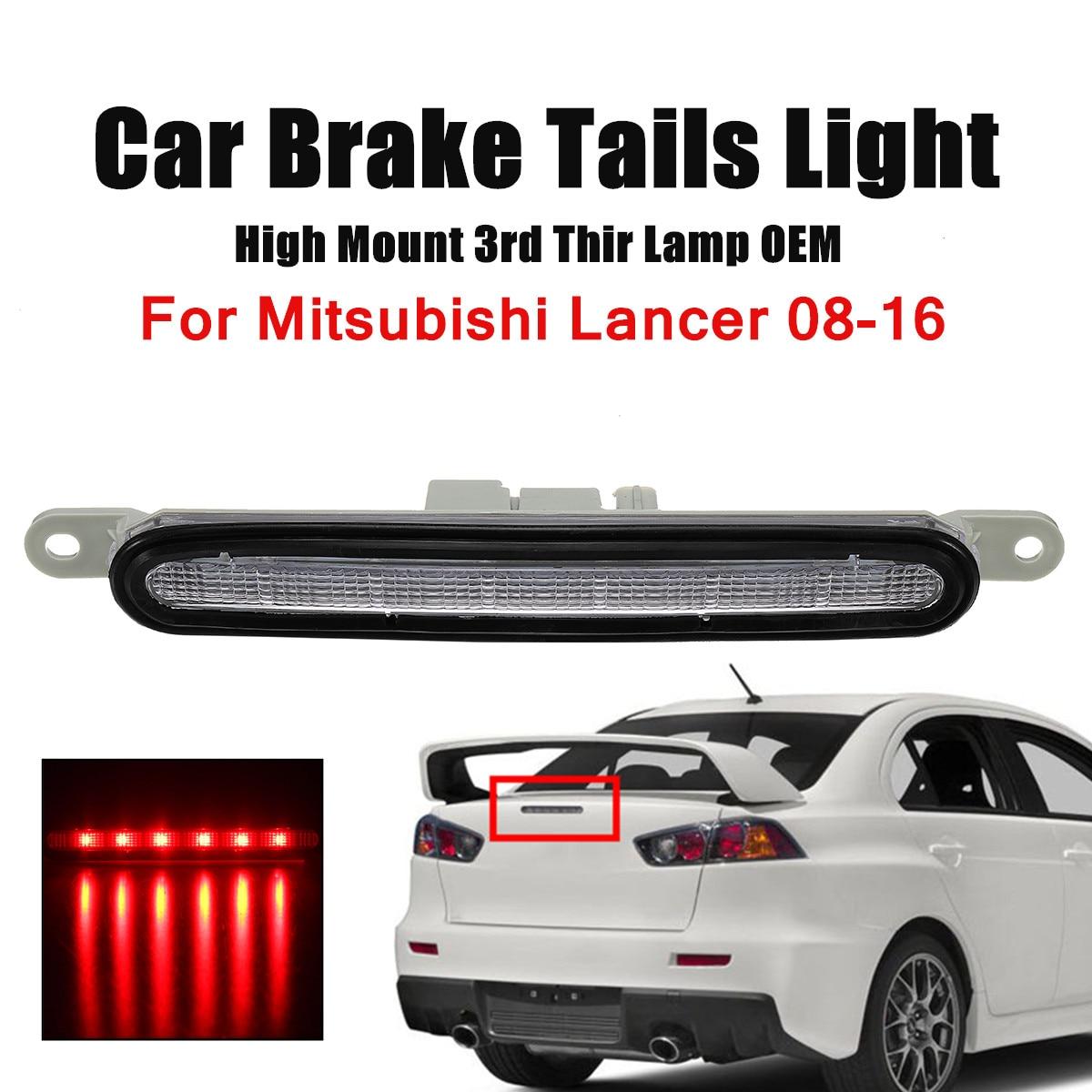 Red Car Brake Tail Lit Trunk Lid Mount 3rd Lamp For Mitsubishi Lancer Security