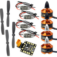 Combo Kit for 250 210 RC Drone : 4x 1806 2400KV Brushless Motor + Mini BLHeli OPTO 16A ESC + 5045 Propellers CW CCW with PDB BEC