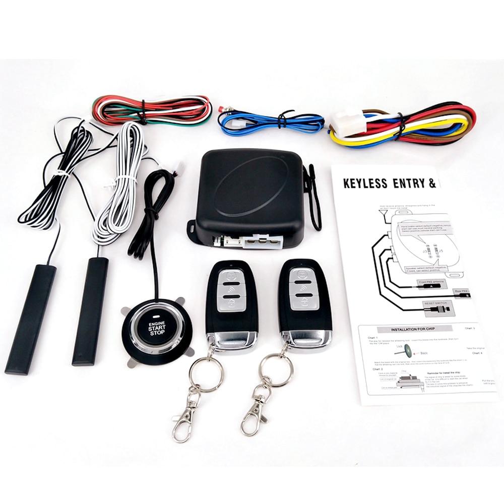 9pcs Car Suv Switch Start Alarm System Keyless Entry