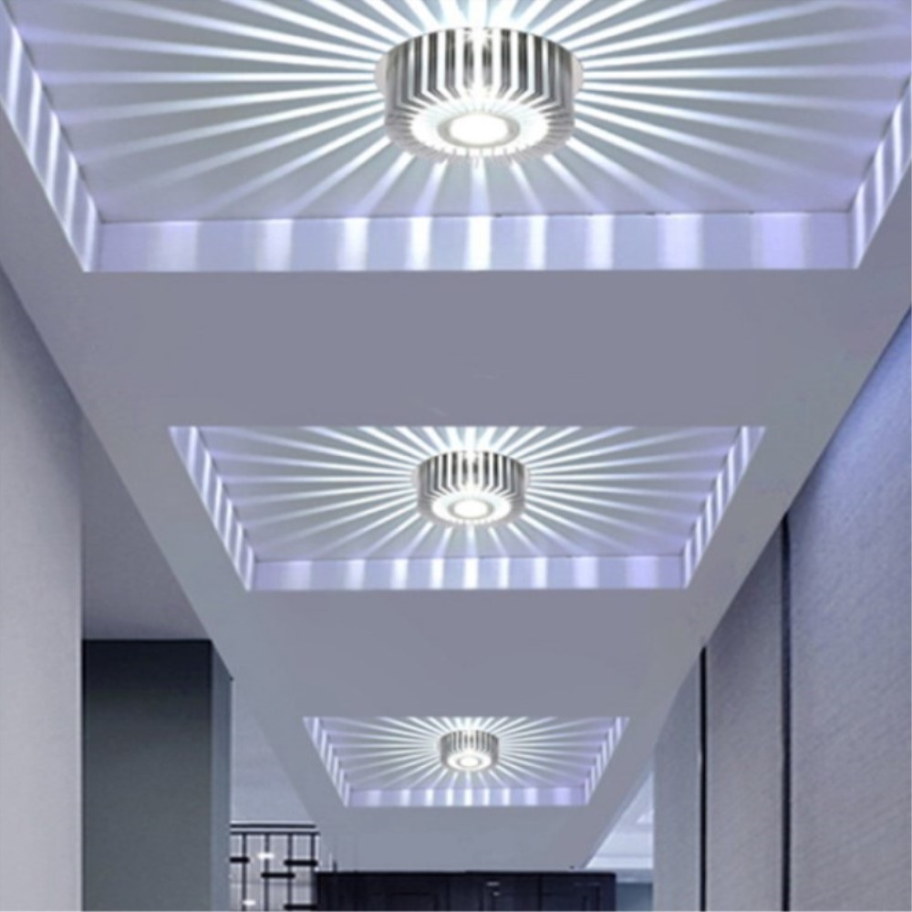 Remote Control LED Ceiling Light 3W RGB Lamp Recessed/Wall Mounted Aluminum Wall Sconce AC90-260V Modern Indoor Lighting Lamp