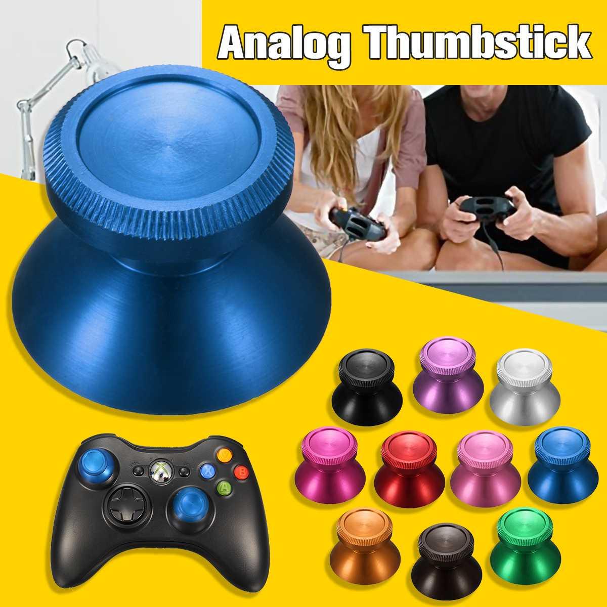 For  For PS4 Universal Joystick Metal Aluminum Alloy Mushroom Cap Analog Thumbstick Dualshock-4 Controller Parts Key