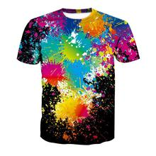 Mens Tops Tees 2019 summer cotton short sleeve t shirt men fashion 3D Digital Printing Graffiti Short Sleeve Shirt streetwear