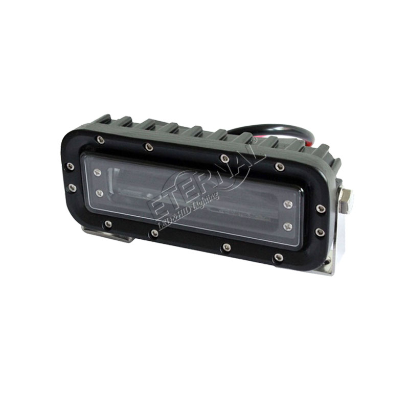 free 2x18W red-zone safety light forklift warning emergency lamp for construction material handling warehouse operation