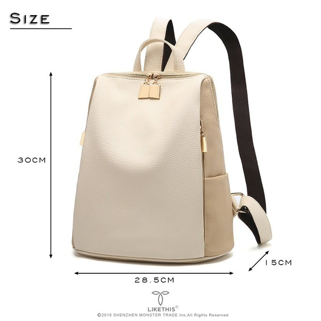 Casual Style Soft Handle Leather Backpacks