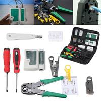 New Computer Network Tool Repair 18Pcs Set Network Ethernet RJ45 RJ11 RJ12 CAT5 CAT5e Cable Tester Phone LAN Crimper Tools Kit