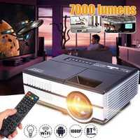 Max 7000 люмен 1080 P полный светодиодный hd проектор 3D дома Театр Кино ЖК дисплей беспроводной HDMI AV/VGA/USB/SD/HDMI/ТВ мультимедийный проектор