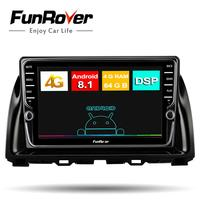 Funrover Octa 8 core 2 din android 8.1 Car radio multimedia dvd Player stereo For Mazda CX 5 2013 2016 gps navigation DSP LTE FM