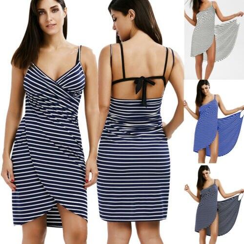 2019 Donne Costume Da Bagno Costume Da Bagno Bikini Costumi Da Bagno Wrap Backless Dress Cover Up Vestito Dalla Spiaggia Sarong