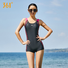 361 Sport Swimsuit One Piece Women Black Backless Competition Swimwear Push Up Sexy Bikini Pool Bathing Suits
