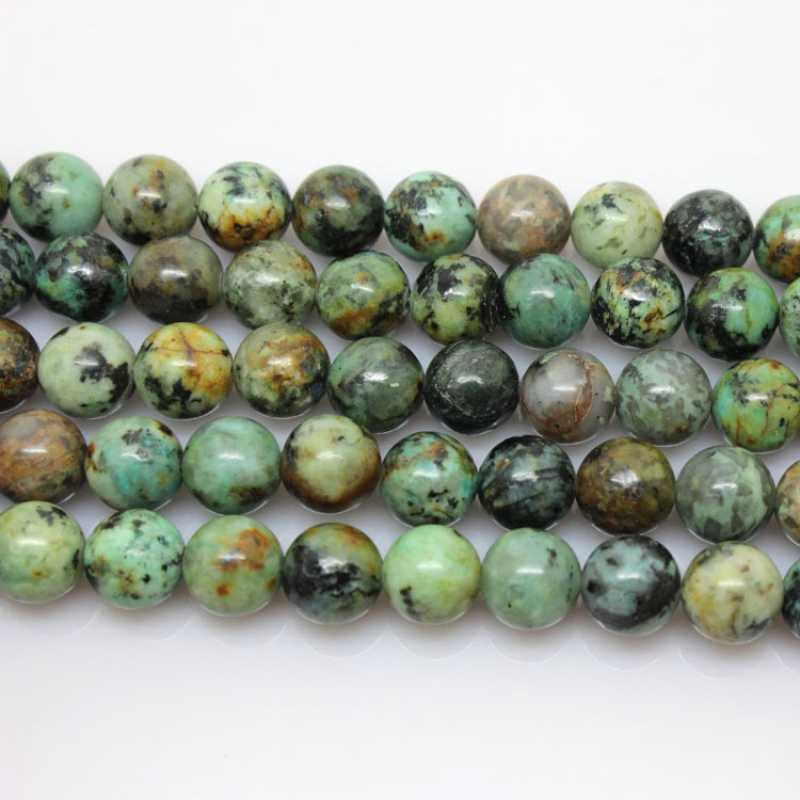 Nice of 6mm Round blue Green African Turquoises Beads Approx 65Pcs