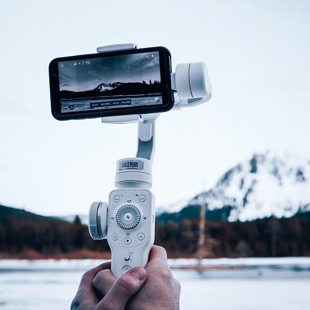 ZHIYUN гладкой 4 Официальный 3-осное Steadicam Стабилизатор для IPhone X 8 Gopro Hero 5 SJCAM SJ7 Xiaomi Yi 4k действие камера