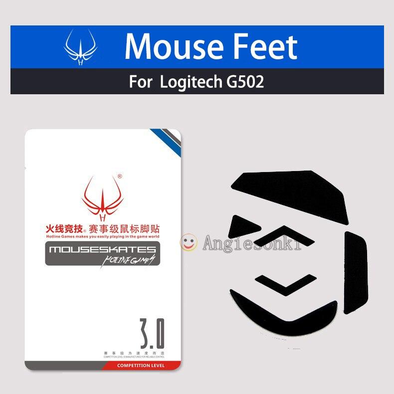 2sets NEW Mouse Feet Skates PTFE Teflon 3M 0 6mm for Log itech G502 Mouse