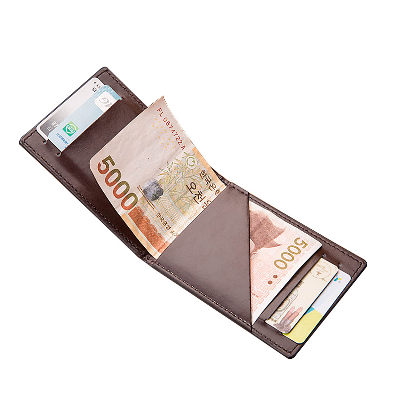 PU Leather Slim Wallet Men RFID Anti-theft Bifold Brief Wallets ID Credit Card Holders Short Money Wallet Male Pocket Purse