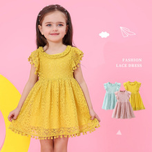 Girls Dress 2019 New Summer Brand Clothes Lace And Ball Design Baby Party For 3-7 Years