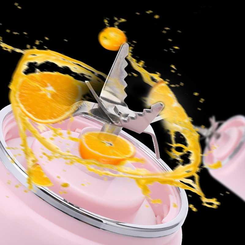 Liquidificador portátil, liquidificador recarregável do curso de usb, liquidificador pessoal para shakes e smoothies, mistura rápida, copo destacável