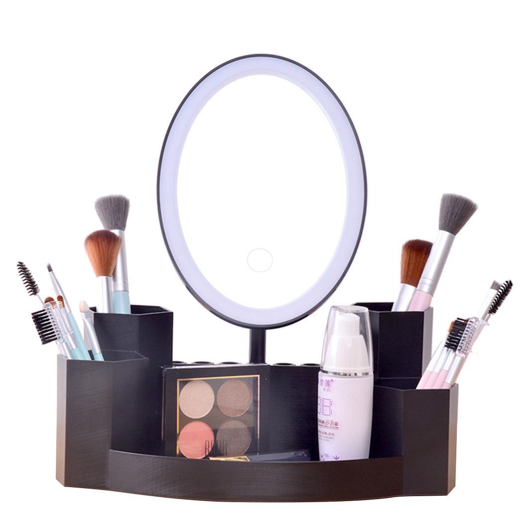 Hell Tragbare Desktop-make-up Spiegel Usb Lade Led Licht Make-up Spiegel 1000 Mah Kosmetik Spiegel Reich An Poetischer Und Bildlicher Pracht Schönheit & Gesundheit Schminkspiegel