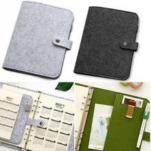 Блокнот из фетра А5/А6, простой блокнот с защелкой для дневника, офисные принадлежности, переплет на кольцах А5, 24*18 см, А6, 19*13 см