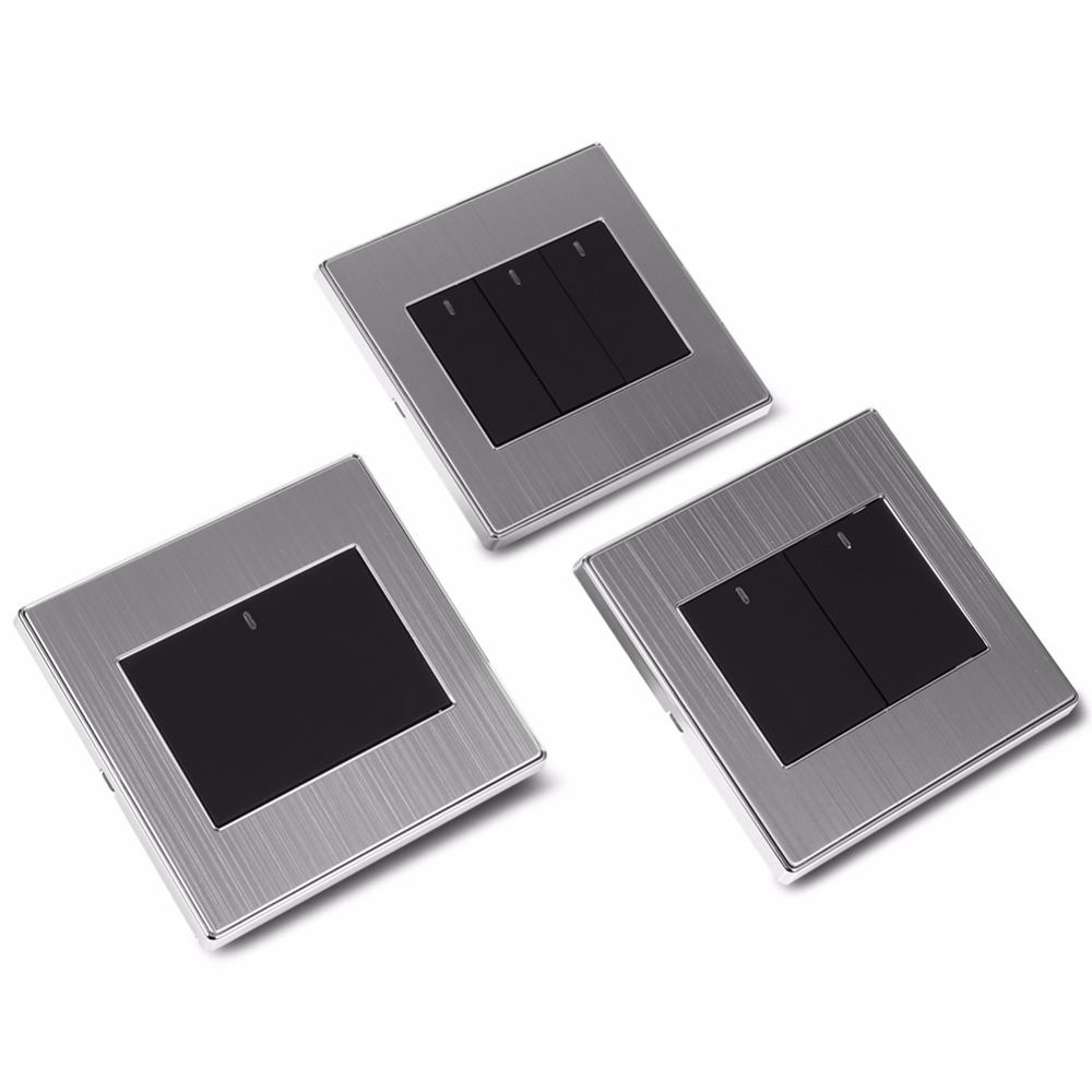 Sincere Home Light Wall Switch 1/2/3 Gang 1 Way 250v 10a Home Modern Type Electrical Push Buttons Light Touch Switch Panel Led Light Hot Diversified In Packaging Lighting Accessories