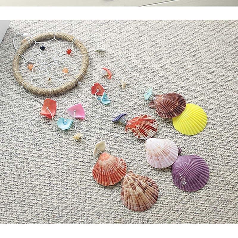 Kühlen erfrischenden sommer strand shell dreamcatcher anhänger möbel anhänger idyllischen stil shell wind glocke freund geburtstag geschenk