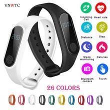 Brand IP67 M2 Smart Wristband men watch BT 4.0 Bracelet Fitness Tracker Heart Rate Sleep Monitoring Pedometer women Smart Watch(China)