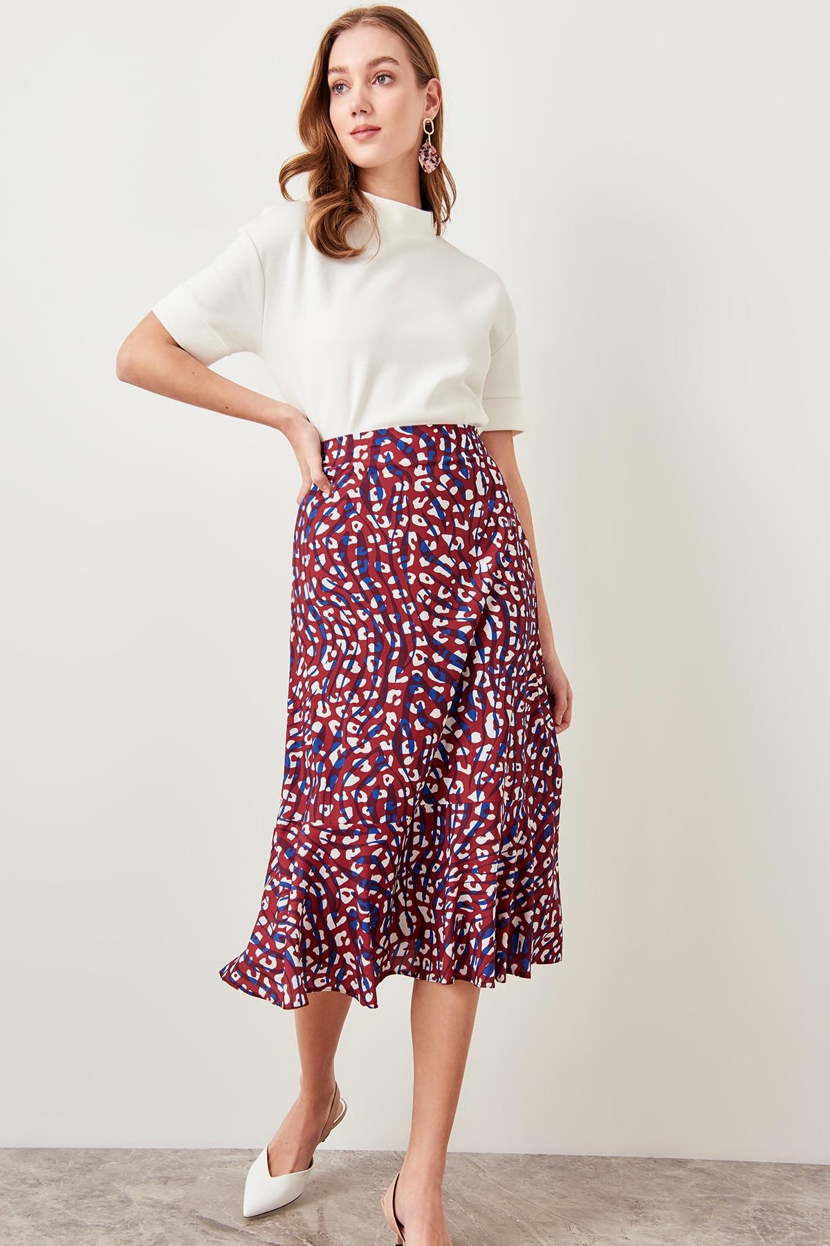 Trendyol Multicolored Skirt Hem Flywheel TWOSS19FG0026