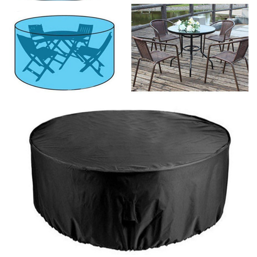 Outdoor Garden Furniture Rain Cover Waterproof Oxford Wicker Sofa Protection Garden Patio Rain Snow Dustproof Black Covers