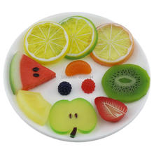 Gresorth Premium Artificial Fruit Slice Fake Lemon Watermelon Kiwi Apple Cherry Pineapple Party Decoration