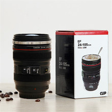 Hot sell Novelty Christmas Gifts Camera milk Cup Coffee Travel Mug New Coffee Lens Emulation Camera Mugs Beer Cups 400 ml 36(China)