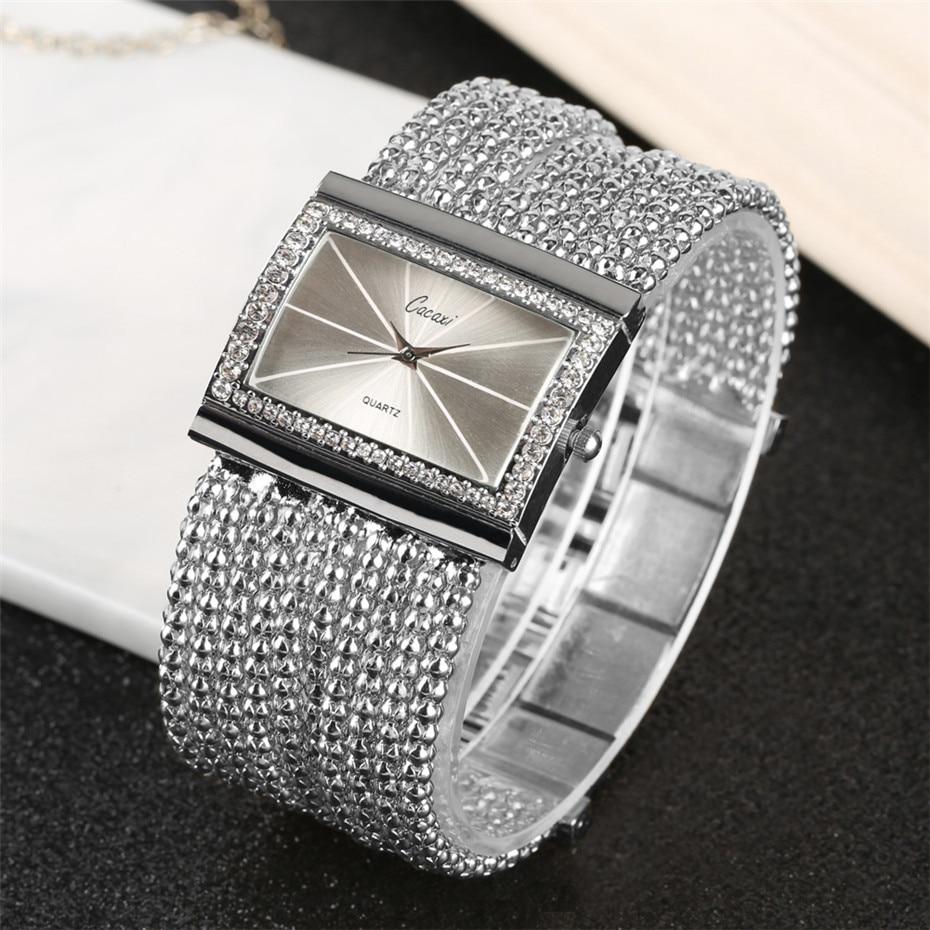 Elegant Womens Watches Quartz Tassel Steel Watch Band Creative Rectangle Lady Wristwatches reloj para mujer New Arrival 2019 2