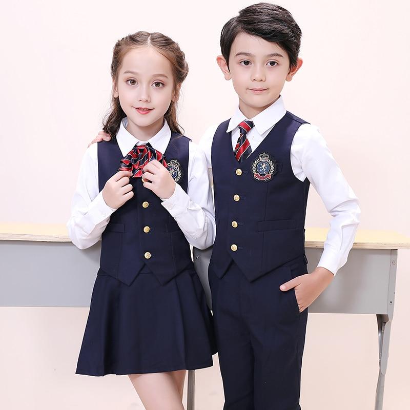 High quality japanese fashion sailor shirt school girl uniform high school uniform vest shirt pants sets