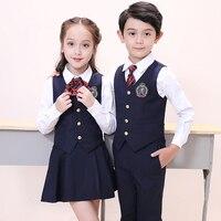 High quality japanese fashion sailor shirt school girl uniform high school uniform vest shirt pants sets school uniform
