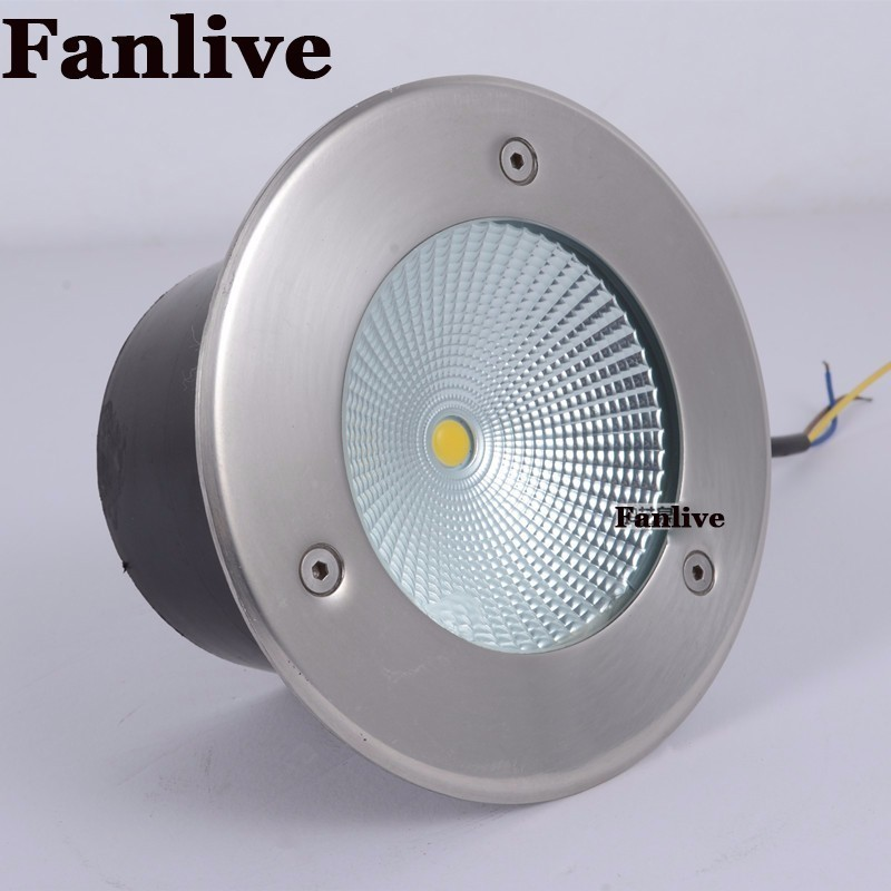 8pcs/lot 50W COB Outdoor Underground Light For Floor Recessed Buried Ground Lamp DC 12v DC 24v AC 85-265V Buried Lights free shipping 30w 50w cob led underground light ip68 buried recessed floor outdoor lamp ac85v 265v