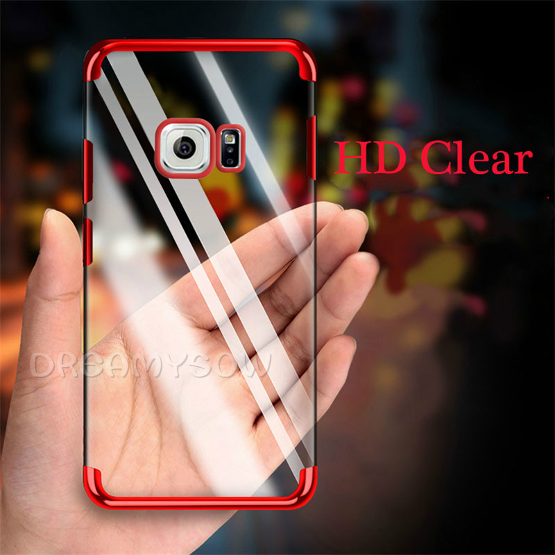 Plating Clear Soft Case For Samsung Galaxy S10 Plus S10 Lite J4 A6 A8 Plus A7 2018 S9 S8 Plus S6 S7 Edge J3 J5 J7 2017 Cover