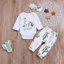 c8ed0b7c935f7 Kız bebek Giysileri Yeni Doğan Bebek Bebek Moda Sevimli Pamuk Kız Alpaka  Tops Romper Çiçek Pantolon Yay Kafa Giyim Seti Bez