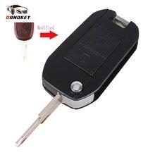 Dandkey измененный дистанционный ключ брелок чехол 2 кнопки для peugeot 106 206 306 406