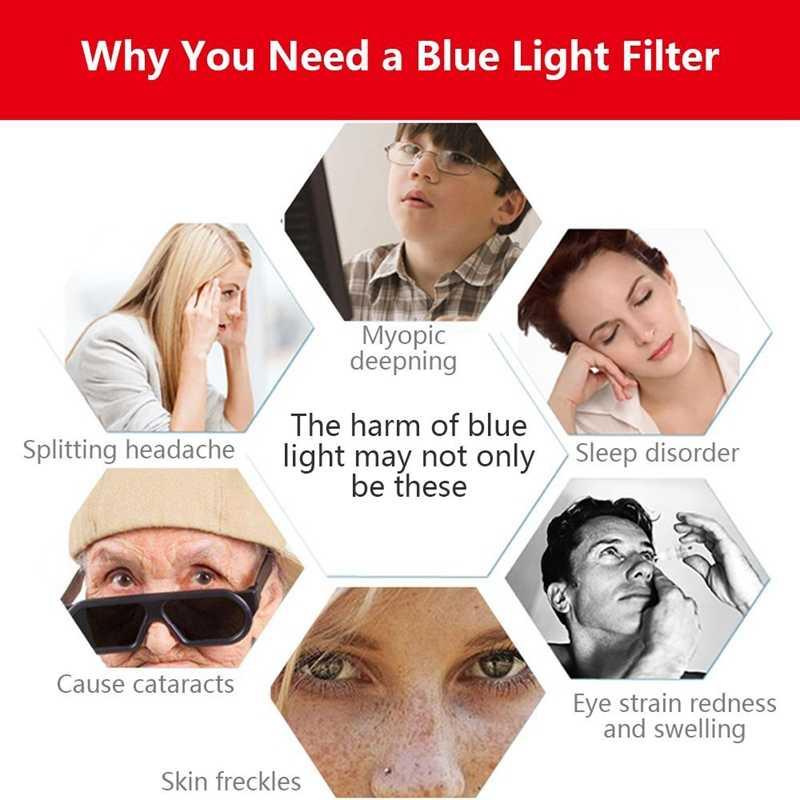 抗青色光スクリーンフィルター 21.5 インチ (505 × 320 ミリメートル) ワイドスクリーンデスクトップモニター、ブロック過度有害な青色光、削減