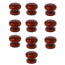 10Pcs/Lot Wood Knobs Wooden Cabinet Drawer Handles Wardrobe Door Pull Handle For Furniture Cabinets With Scr