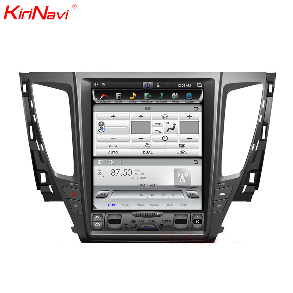 KiriNavi écran Vertical Tesla Style 12.1 pouces voiture MultimediaFor Mitsubishi Pajero Sport Montero Android Radio GPS Navigation MP3