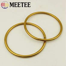 Meetee 2pcs 10cm Metal Ancient Gold O Ring Hand Buckle Bag Pendant DIY Hardware  Clothing Craft Decoration Accessories F1-77