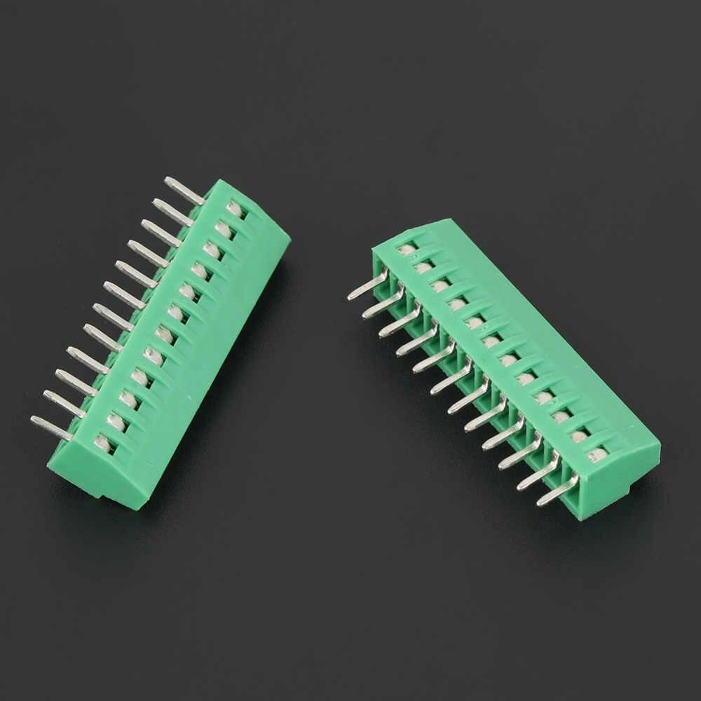 10 шт./компл. 12 Pin 2,54 мм шаг для зеленой печатной платы Универсальный винтовой клеммный блок разъем высокого качества