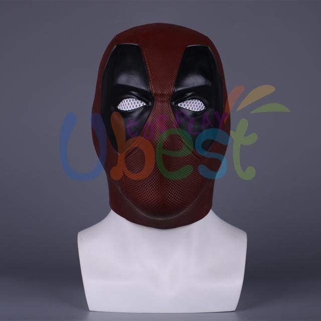 Deadpool Mask Latex Helmet Cosplay Props Halloween Prop