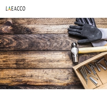 Laeacco Repair Tool Kit Worker Wooden Board Backdrop Photography Backgrounds Customized Photographic Backdrops For Photo Studio