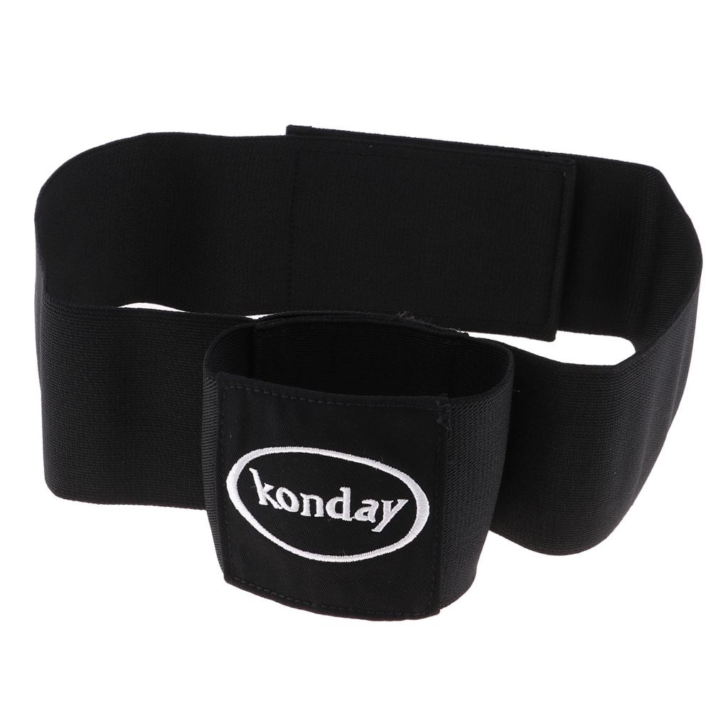 Elastic Golf Swing Training Arm Band Golf Hand Posture Corrector Black Polyester Training Belt For Golf Beginner Practicing