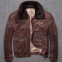 Новые брендовые зимние warmClassic G1 стиль мужская кожаная куртка, винтажные теплые куртки, человек Натуральная кожа пальто