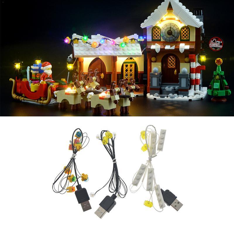 LED Lumière Kit Pour Lego Santas Atelier Ensemble 10245 De Noël Pour Lego Jouet Accessoires