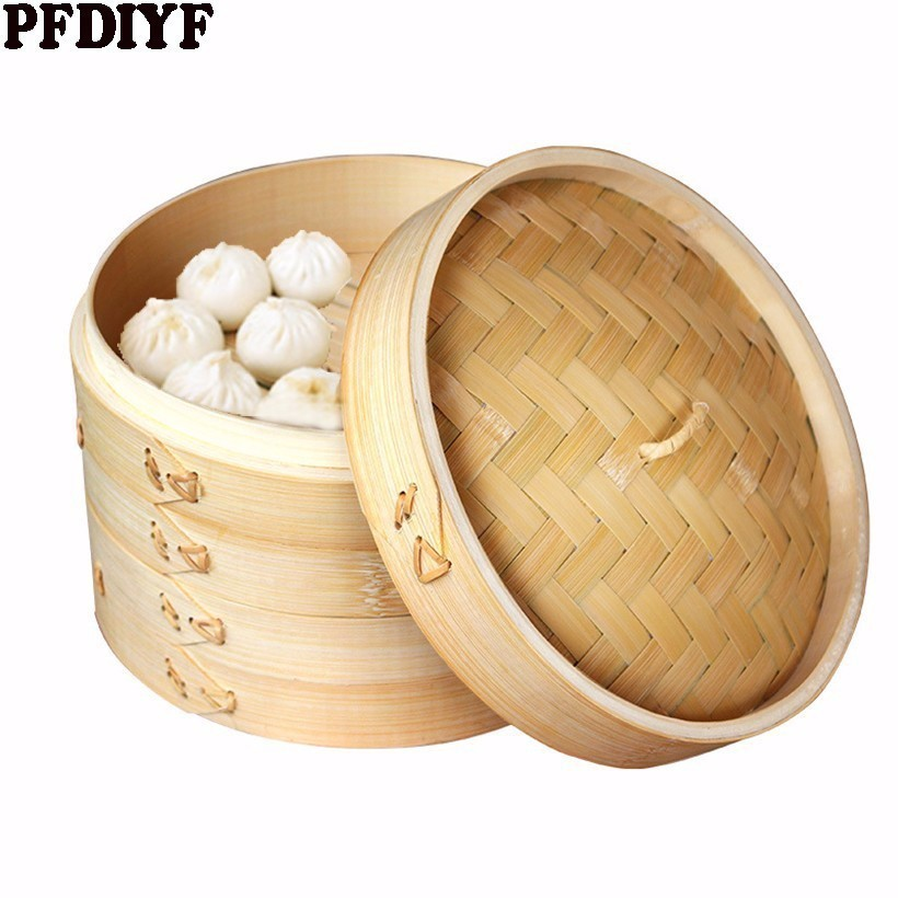 One Cage Or Lid Cooking Bamboo Steamer For Fish Rice Vegetable Snack Basket Set Cooking Tools Dumpling Steamer 5pcs Steamer Mats
