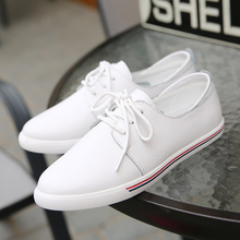 Brand Women Flats oxfords Shoes Casual Lace Up Leather Women Shoes 2017 Fashion Female White Shoes Ladies Flat Shoes instantarts women s flats casual leather shoes for women breathable ladies lace up sunflower oxfords butterfly floral flats shoe