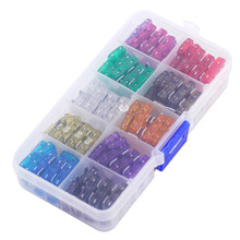 110 pcs mini Blade Fuse Car Motorcycle SUV Fuses Kit 2-35 AMP Insurance Small and Standard/Middle Size