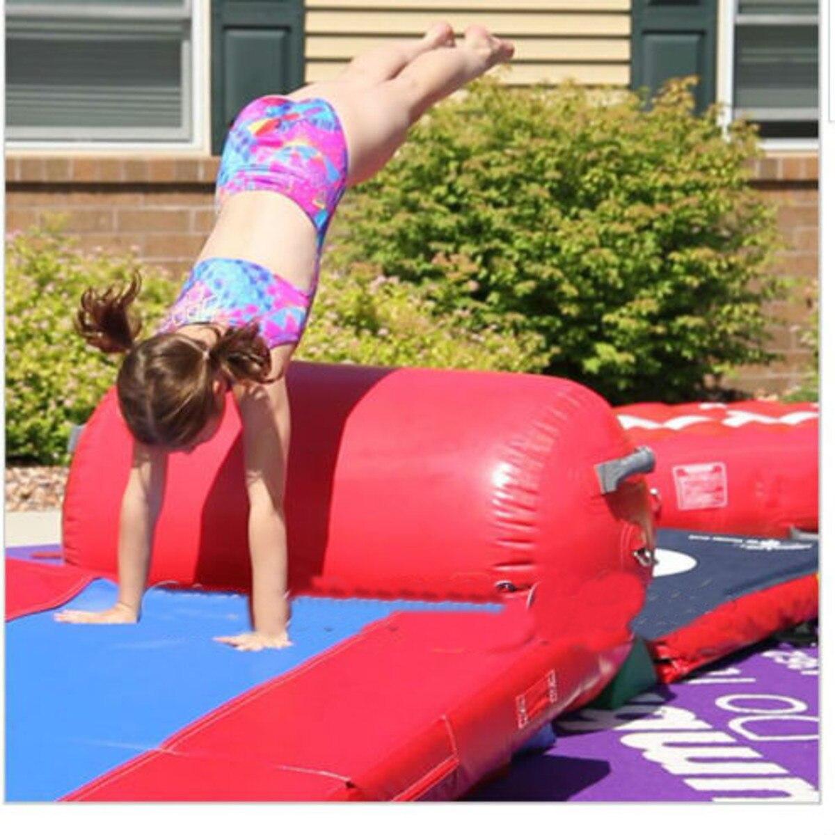 Gofun AirTrack Air cylindre Tumbling piste gymnastique exercice colonne gonflable Gym inversé Backflip entraînement enfants en sécurité - 4