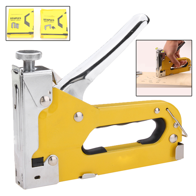 Mulool Nail Staple Gun Furniture Stapler For Wood Door Upholstery Framing Rivet Kit With Type U Shape T Nails